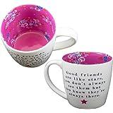 Mug ~ Ceramic Tea/Coffee ~ Inside Out Mug - FRIENDS LIKE STARS by Two Up Two Down