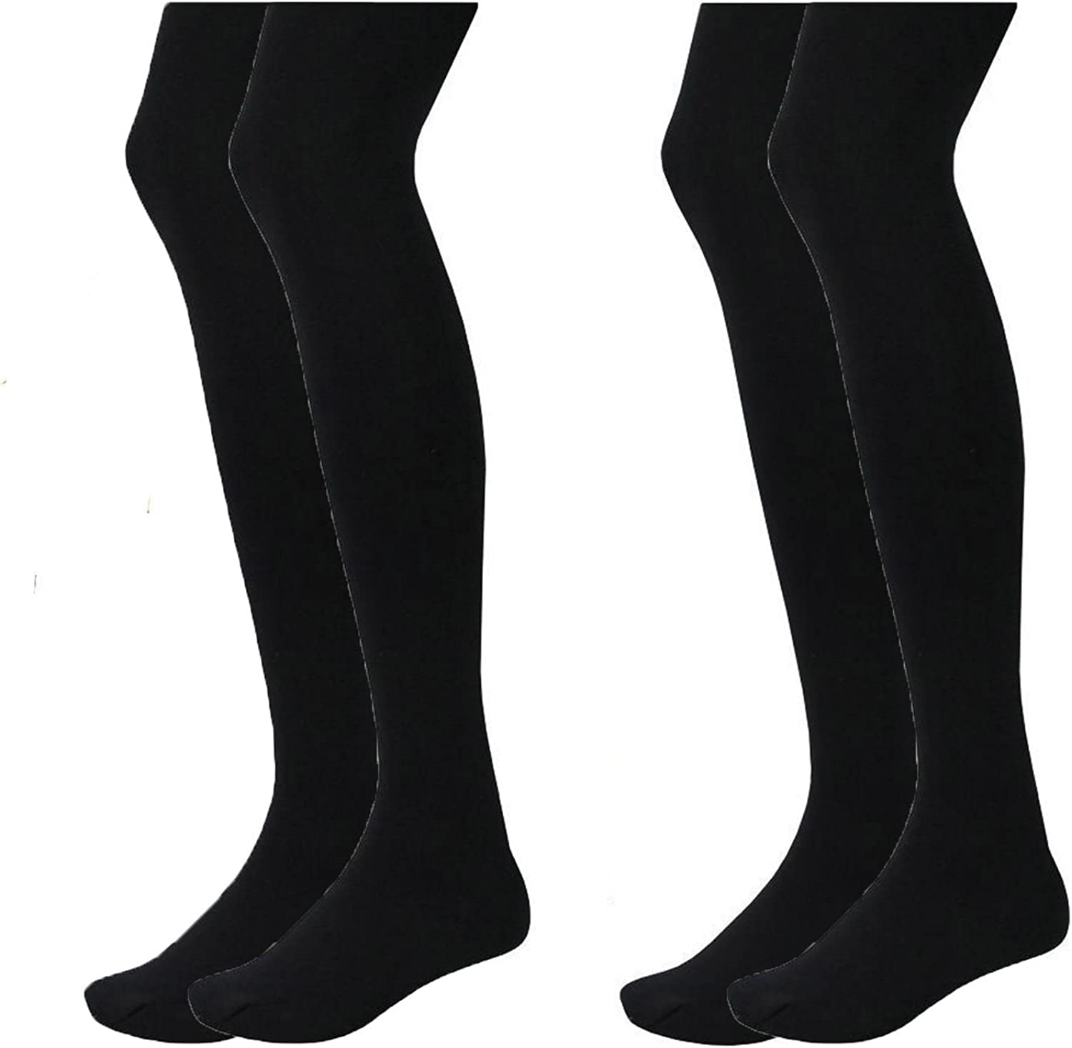 Girls  Black School Winter Cotton Rich Tights Age 11-12 Years   BRAND NEW