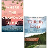Hillbilly Elegy by Vance, Where the Crawdads Sing by Delia Owens 2 Books Collection Set