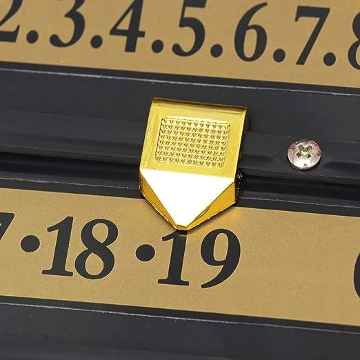 GARNECK Tabelloni Segnapunti da Biliardo da Biliardo da Biliardo da Appendere a Parete Registratore di Punteggio Standard per Casa Forniture di Gioco Nero 71X40x3 5 Cm