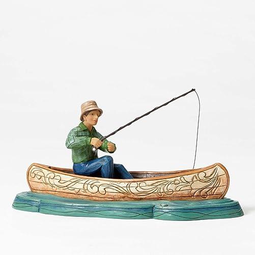 Enesco Jim Shore Figurine Fisherman in Canoe