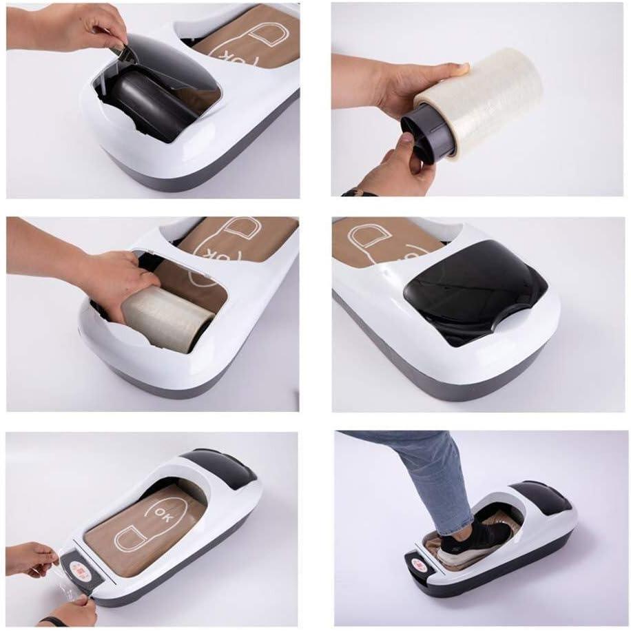 Surchaussures couvre-chaussure distributeur Surchaussures /à usage unique distributeur automatique Machine de moulage de chaussures avec un rouleau de film non Slip Shoe Appliquer au Bureau des m/énages