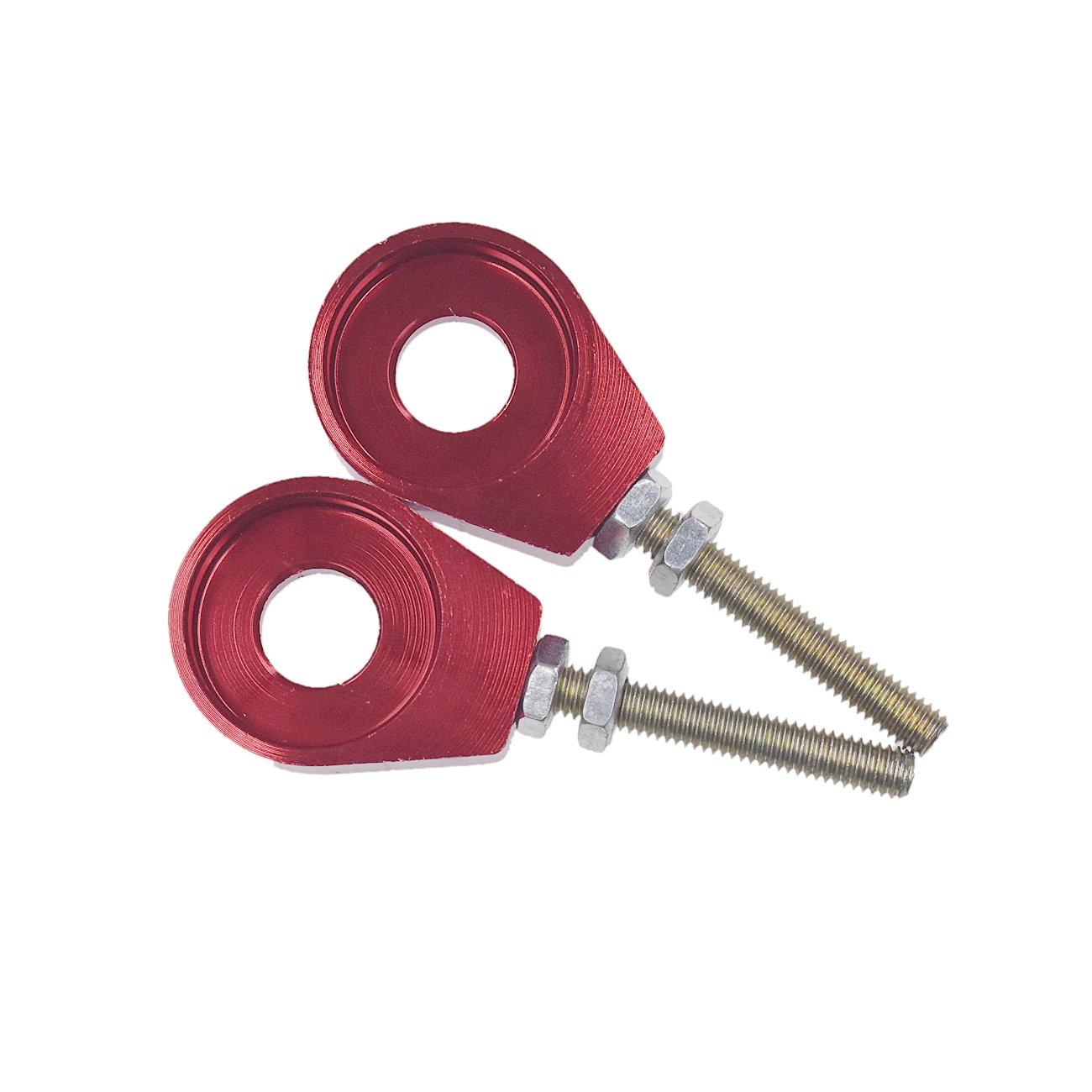 JRL 2pcs 12mm Chain Tensioner Adjusters Fit Honda XR CRF50 70 DHZ BBR KLX114 IMR Dirt Bike ATV Scooter Bike Scooter