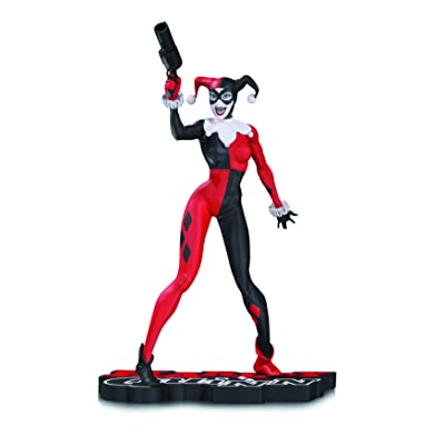 DC Collectibles Harley Quinn Harley Quinn Statue, Red/White/Black: Toys & Games