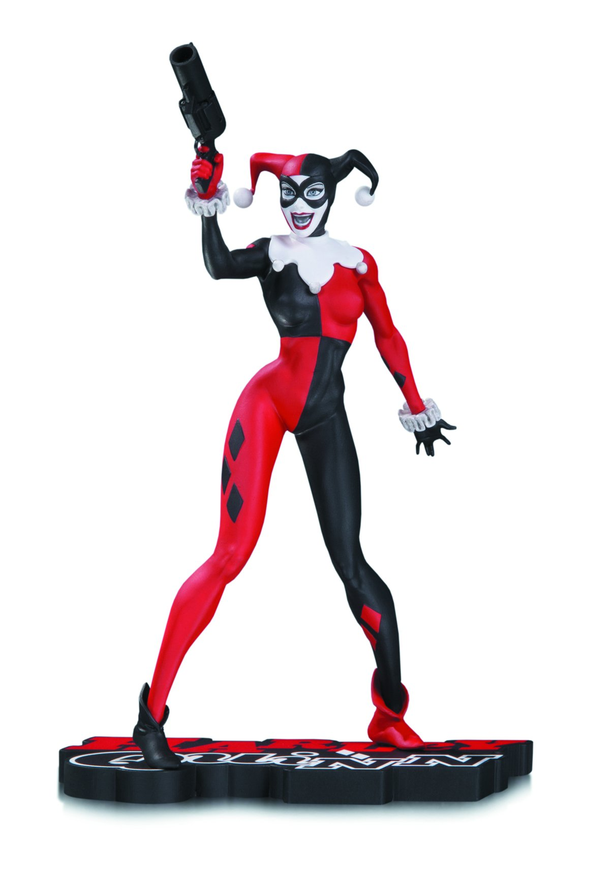 DC Collectibles Harley Quinn Harley Quinn Statue, Red/White/Black