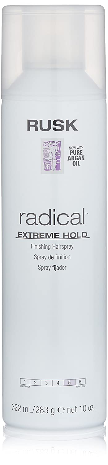 RUSK Designer Collection Radical Extreme Hold Finishing Hairspray with Argan Oil