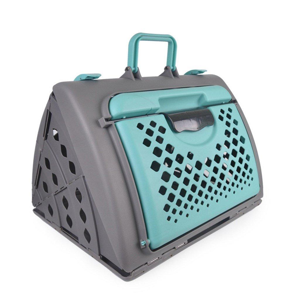 Green Pet Online Pet Carrier Portable Outdoor Animals Carrier Travel Bag Flight   Airline Approved,473936cm,Green