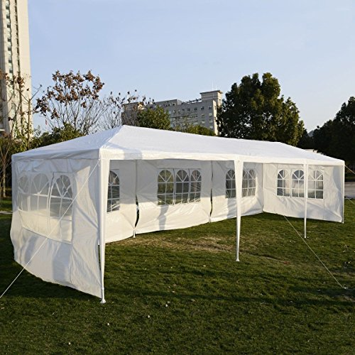 White 10'x30' Party Wedding Outdoor Patio Tent Canopy Hea...