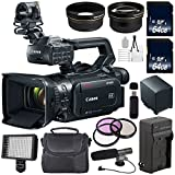 Canon XF400 Camcorder 2213C002 + 64GB SDXC Class 10 Memory Card + SD Card USB Reader + BP-820 Replacement Lithium Ion Battery + External Rapid Charger + 58mm 3 Piece Filter Kit + Condenser Mic Bundle
