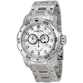 ab46aeff309 Invicta Men s 0071 Pro Diver Collection Chronograph Stainless Steel Watch