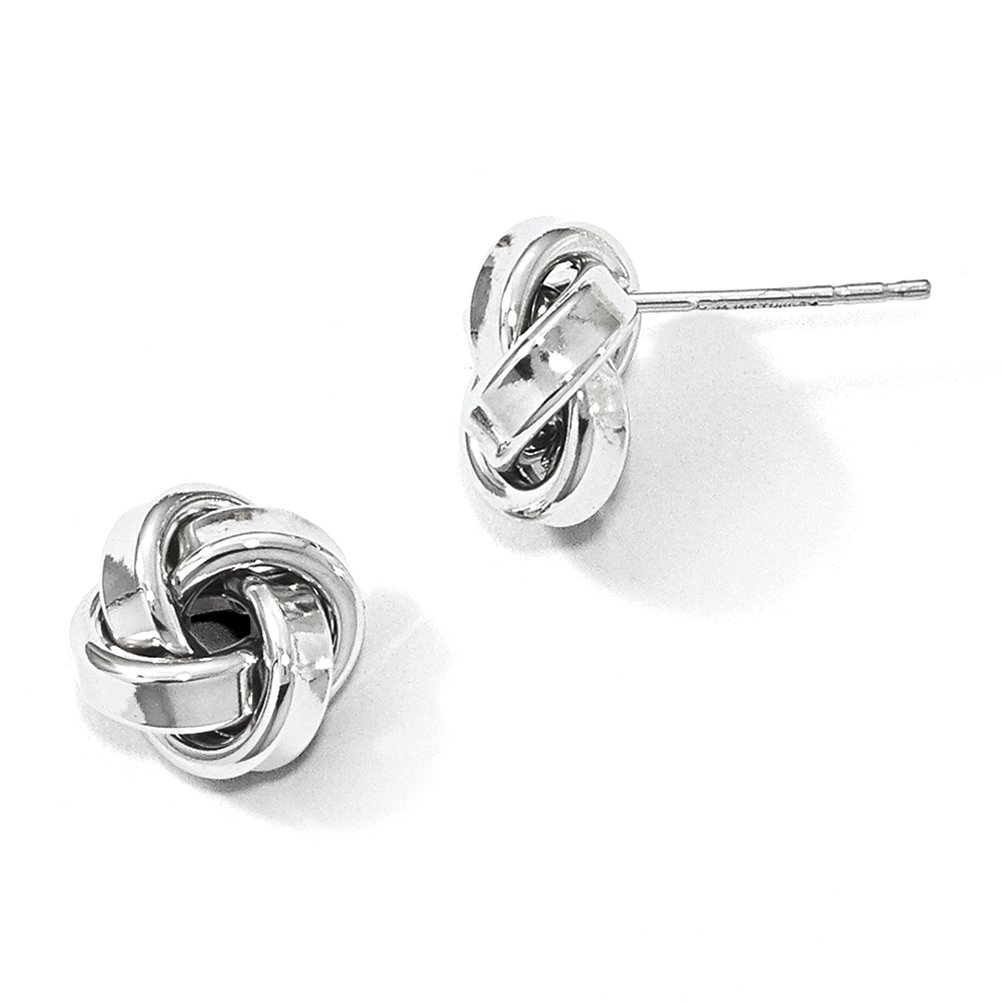 Leslie's 14k White Gold Polished Love Knot Earrings LE1329
