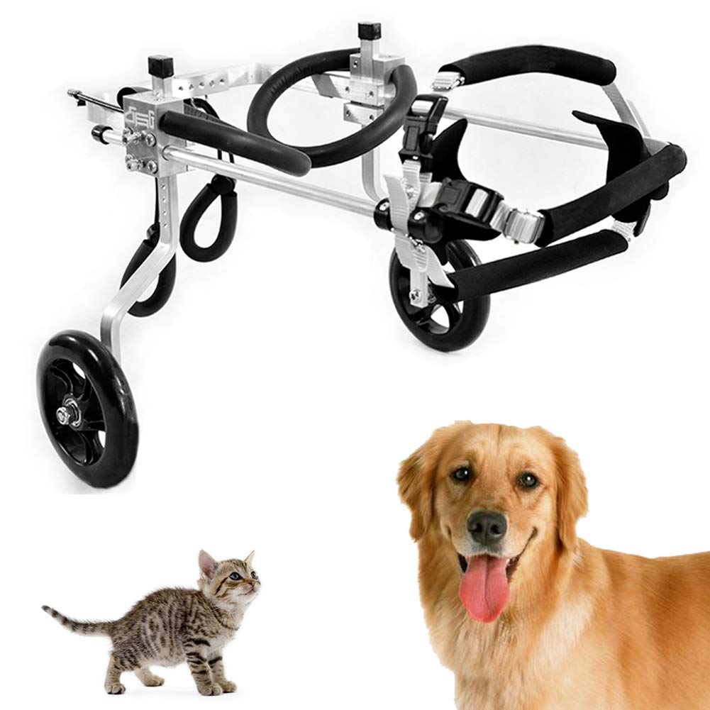 Adjustable Wheelchair for Dog Cat Dog Rabbit Pet, Hind Legs Rehabilitation, Postoperative Repair, Disabled Animal for Hind Leg Rehabilitation, Complete Size,L-01 by CoraStudio