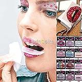 NPLE--15X Temporary Lip Tattoo Sticker Art Transfers Lady Party Dress Up Beauty BB