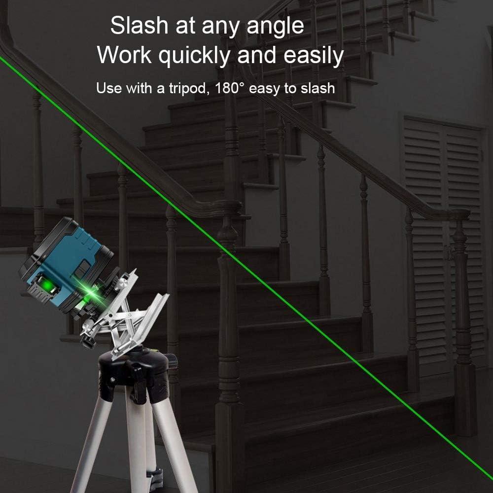 paille verte 3D IP 54 et ligne de faisceau laser verts ultra puissante bleu 12 lignes Laser /à lignes crois/ées auto-nivelant 360 vertes laser auto-/équilibrante et auto-/équilibrante