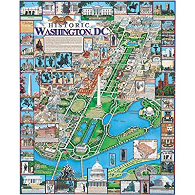 Jigsaw Puzzle  Washington Dc 500 Pc By Dowdle Folk Art By Dowdle Folk Art Sonstige
