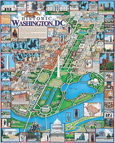 White Mountain Puzzles Washington DC - 1000 Piece Jigsaw Puzzle (Best Way To See Washington Dc Monuments)