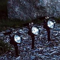 Set of 3 Solar Landscape Spot Lights - 3 LED by LampLust