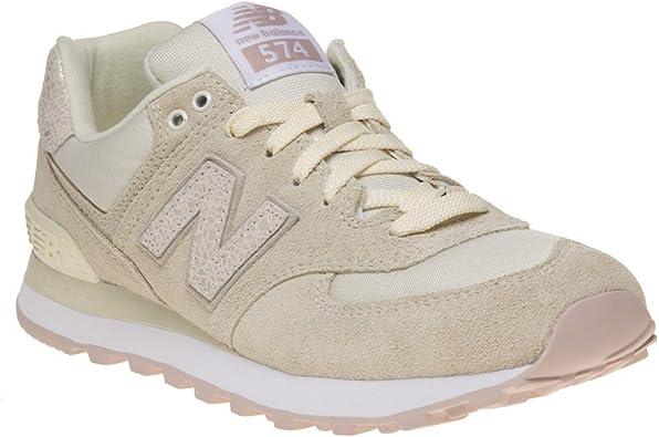 New Balance 574 Mujer Zapatillas Blanco: Amazon.es: Zapatos ...