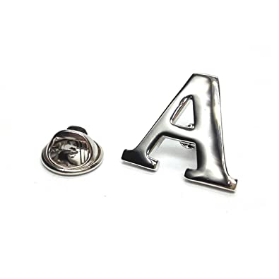 Beautiful Amazon.com: Monogram Alphabet Letters Lapel Pin Badge (Letter A  AP99
