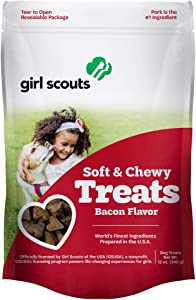 Girl Scout Dog Treats, Bacon Flavor – Soft Chews, Puppy Training Treats, Rawhide Free, Gift for Small & Large Dogs, Pet Food Supplies Made in USA