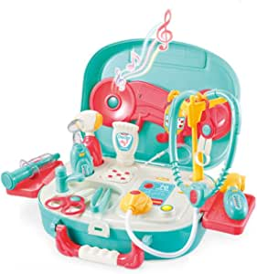 wodtoizi Medical Playset Dentist Kit Dentist Set Kids Doctor Toys Pretend Play with Sounds and Lights in Storage Box Boys Girls Toddler Birthday School Classroom Party Role Play