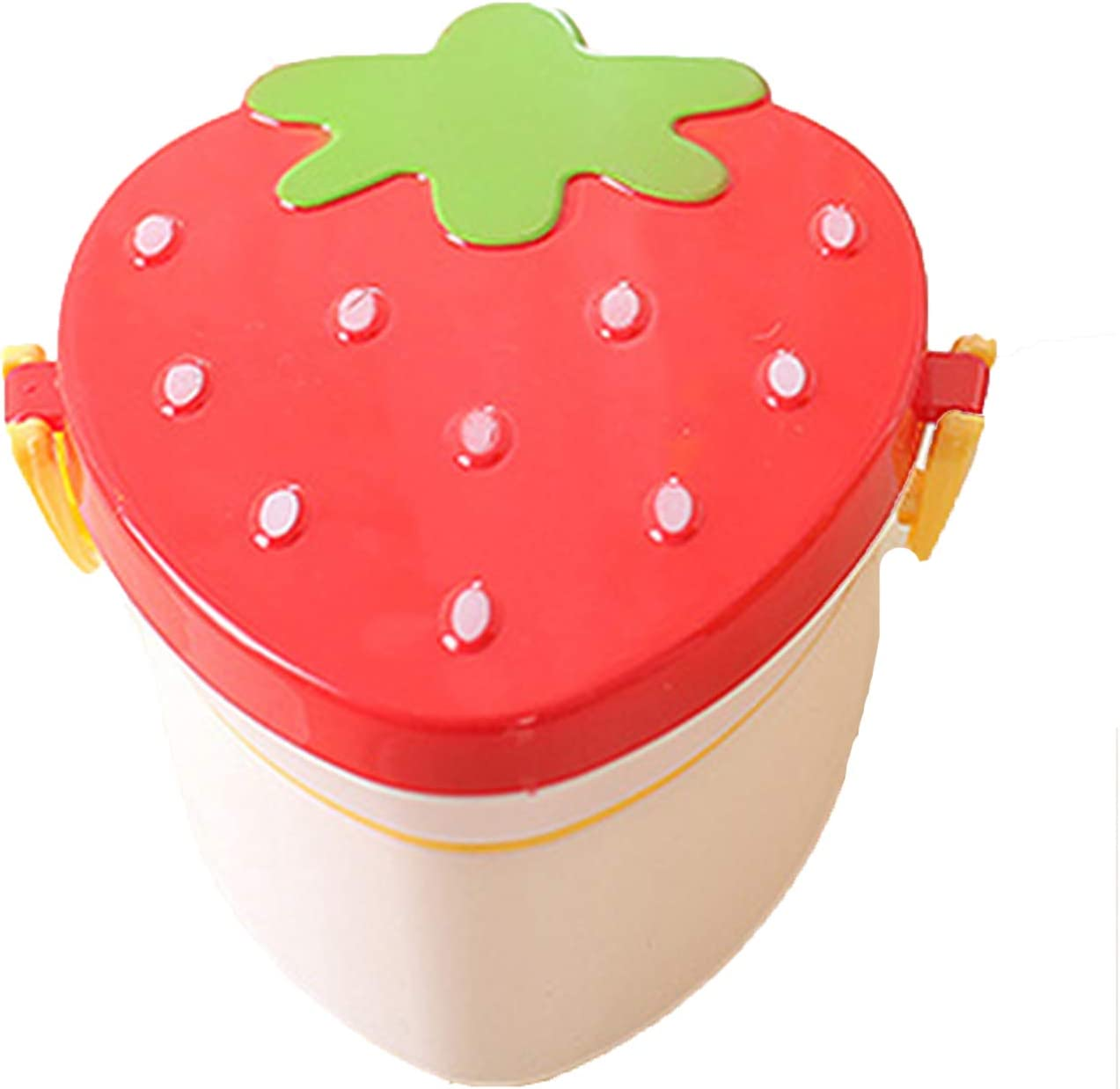 500ml Strawberry Shape Lunch Box 2 Layer Food Fruit Storage Bento Boxs Red Pink Microwave Tableware Kid Cute School Bowl 02