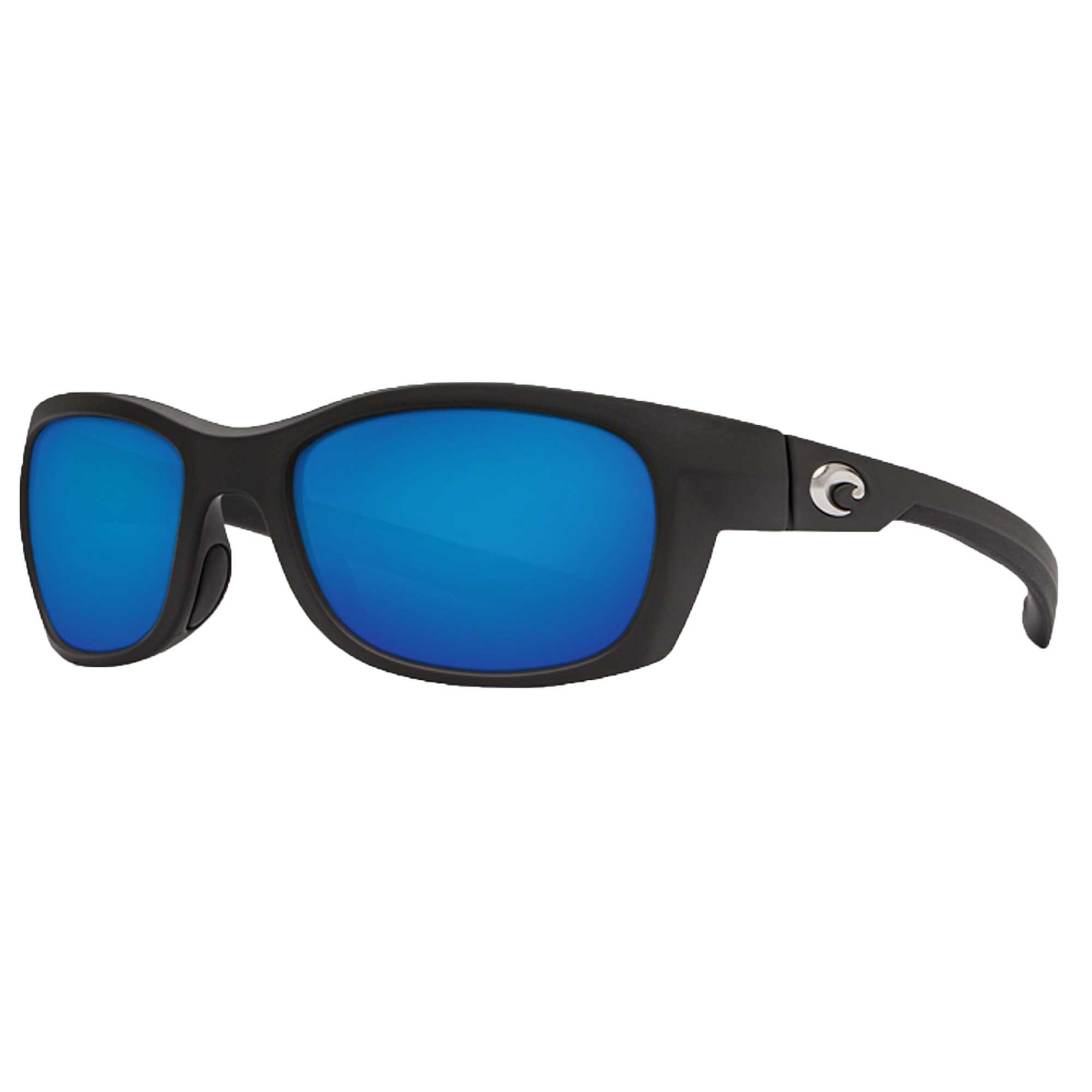 Costa Trevally Polarized Sunglasses - Costa 580 Glass Lens Blue Mirror Glass W580-Matte Black Frame, One Size