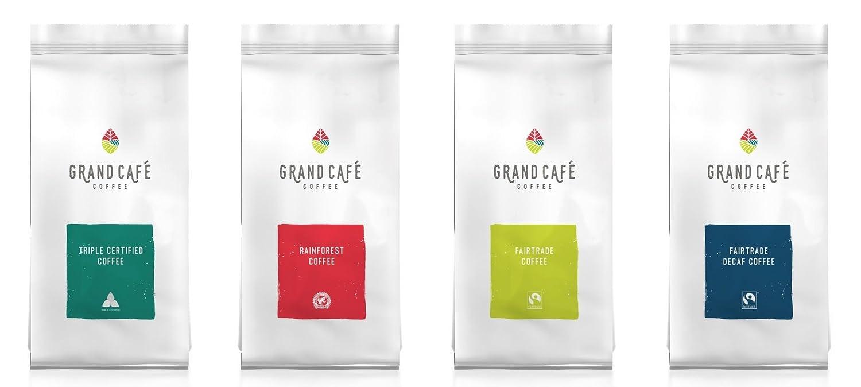 Café unido Premium Grand Café Espresso de comercio justo de Costa Rica Mezcla de América Central Granos de café tostado, Café de grano entero, ...