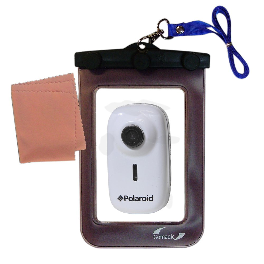 outdoor Gomadic waterproof carrying case suitable for the Polaroid XS10 to use underwater - keeps device clean and dry