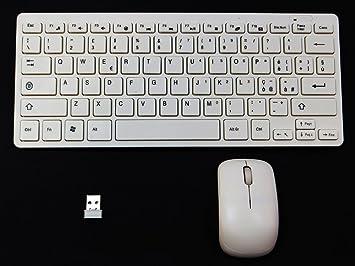 Mini teclado italiana + ratón + receptor Wireless Computer Laptop Notebook PC