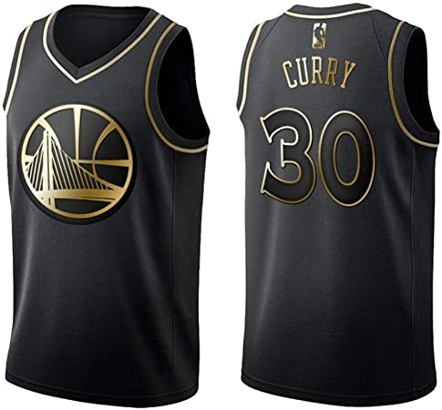 NBA Camiseta De La NBA para Hombre, Golden State Warriors 30 Stephen Curry, Cool Breathable Basketball Uniforme Fitness Camisa Deportiva,Black-M: Amazon.es: Hogar