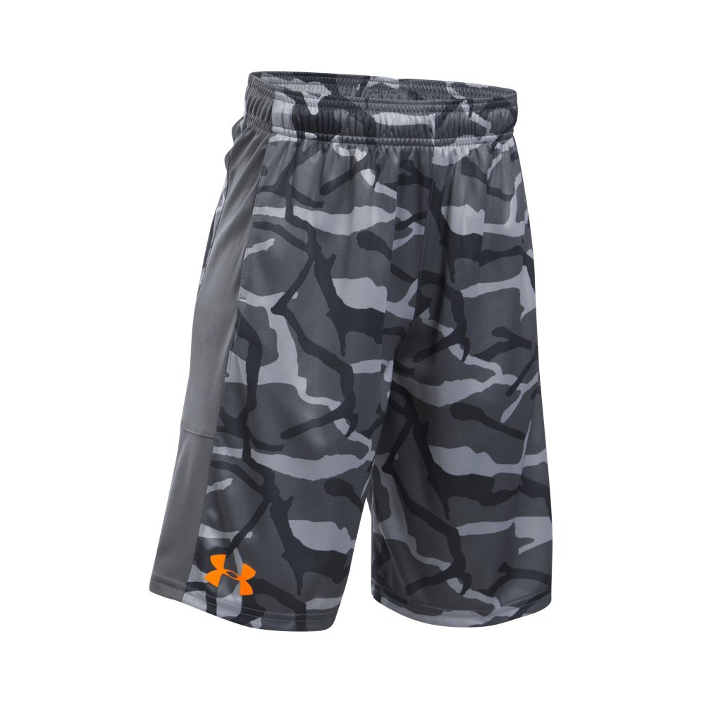 Under Armour Boys' Instinct Printed Shorts,  Graphite /Radiate Youth X-Small