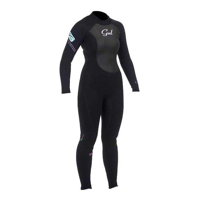 Gul Women s Response 3 2 mm Flat Lock Steamer Wetsuit - Black d7f927b59