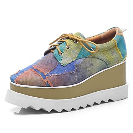 86b997b5b0c0c Amazon.com: YXB Women's Casual Shoes 2019 New Denim Wedge Shoes ...