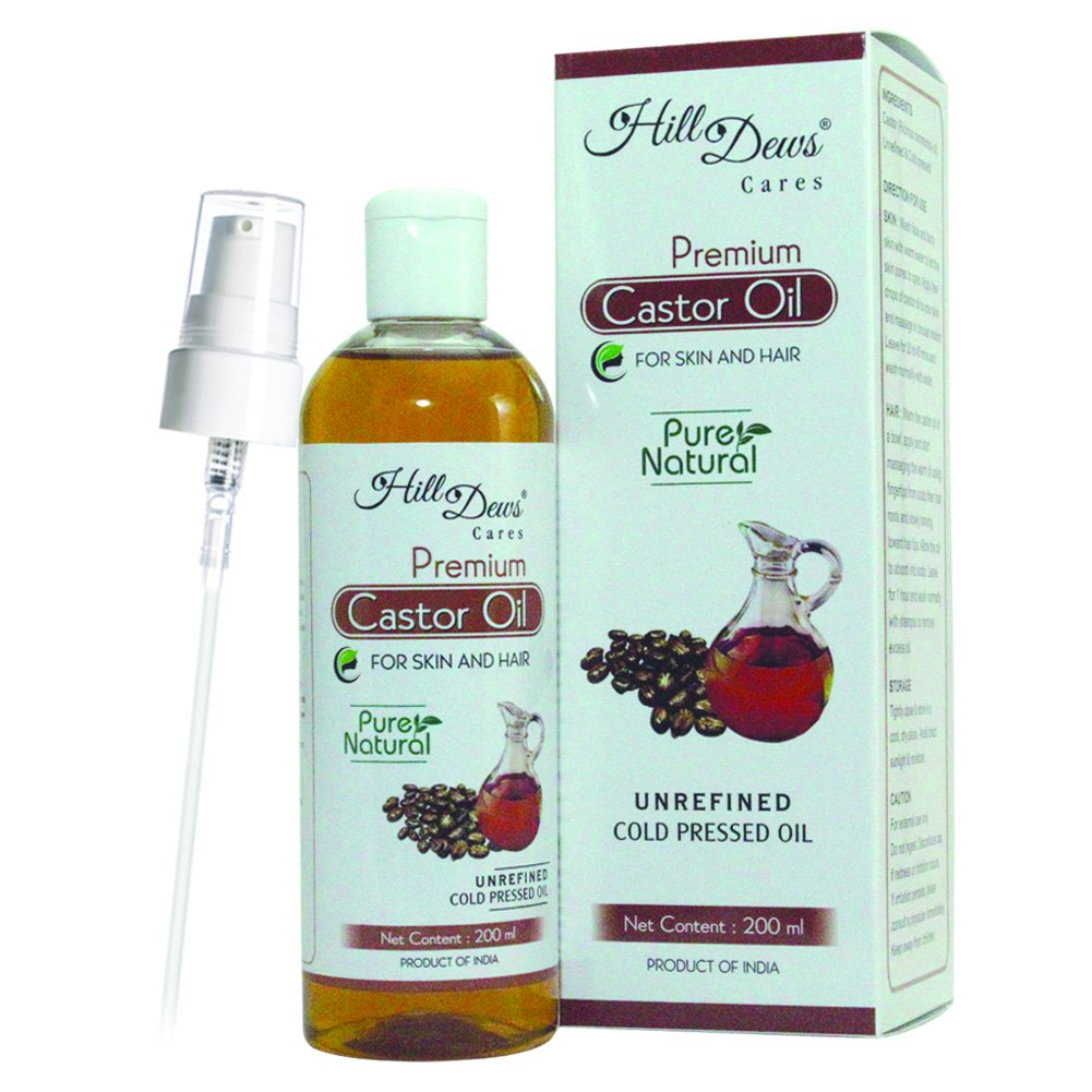 HillDews Castor Oil 200Ml Cold Pressed For Skin & Hair product image