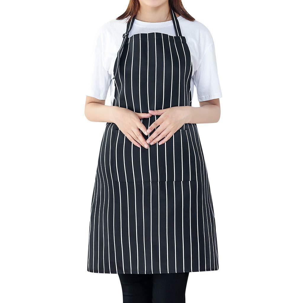 LOMONER Small Floral Dresses for Women Maxi Dress Women Cooking Chef Kitchen Restaurant Bib Apron Dress Pocket Apron