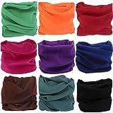 8a2bc641ece KALILY 12PCS 9PCS 6PCS Headwear Wide Headbands Scarf Head Wrap Mask  Sweatband -12