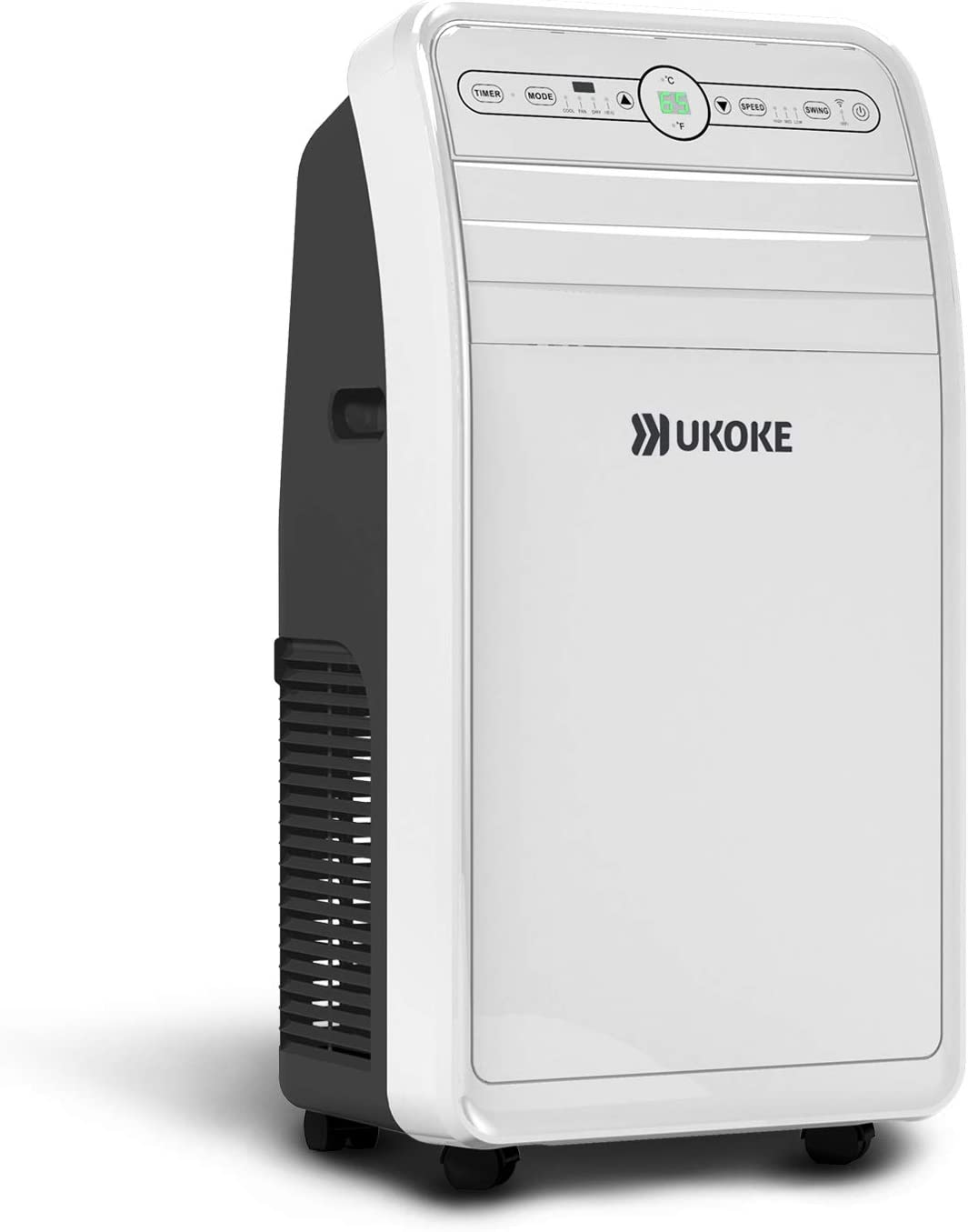 Ukoke USPC01W Smart Wifi Portable Air Conditioner, Works with Alexa & Mobile App Control, 12000BTU, 4 in 1 AC Unit with Cool, Heat, Dehumidifier & Fan, up to 400 Sq. ft