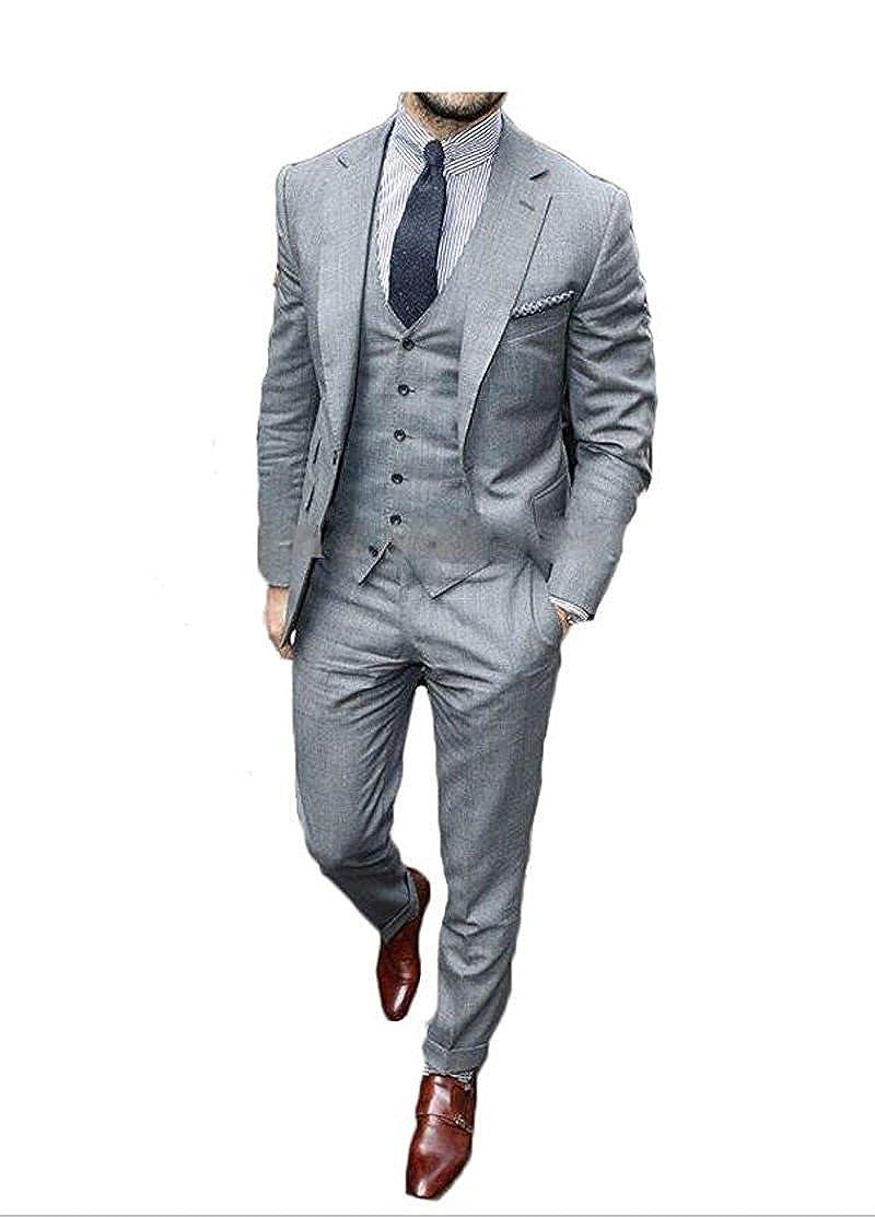 Lilis® Men's Slim Fit Classic 2 Button 3 Piece Business Farmal Suit Set Custom Made LL17081704