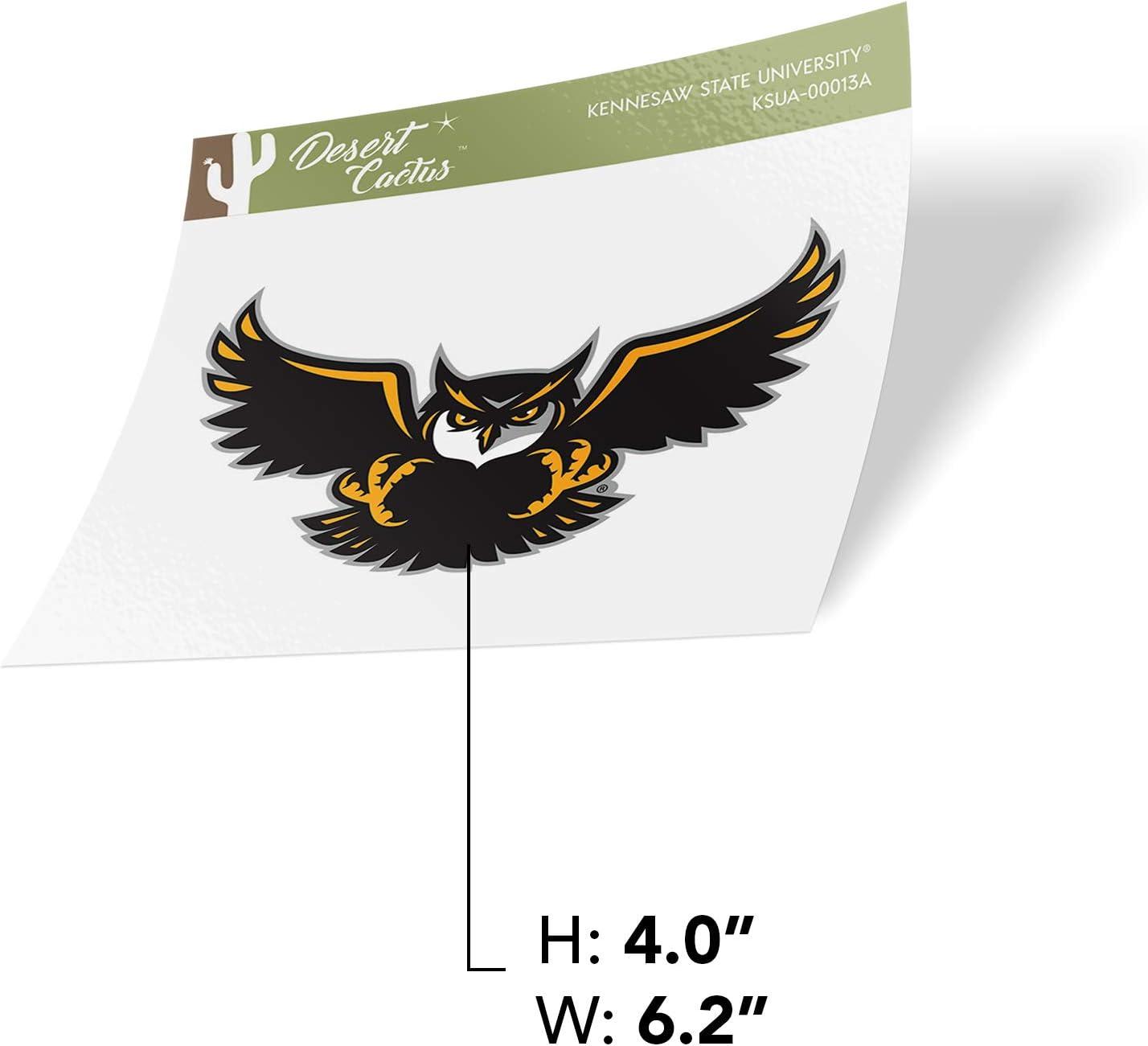 Kennesaw State University KSU Owls NCAA Vinyl Decal Laptop Water Bottle Car Scrapbook Sticker - 00013A