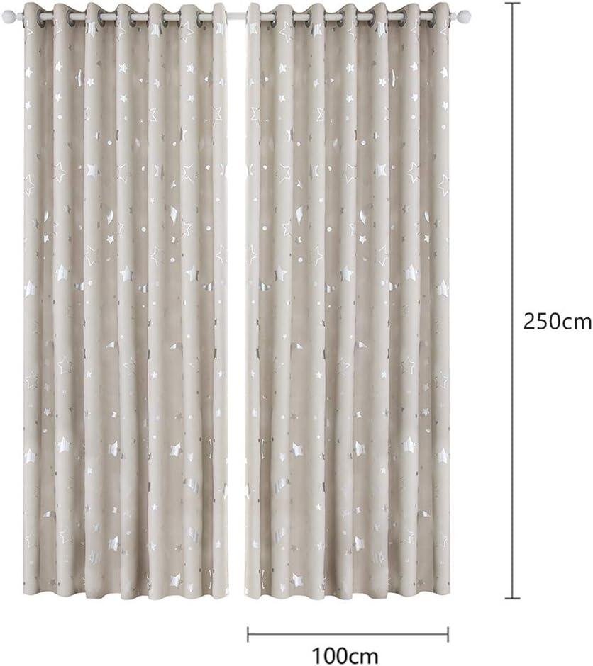 99,1 cm de largeur x 243,8 cm de hauteur Prosperveil Rideaux occultants /à /œillets avec isolation thermique Motif /étoiles scintillantes Pour chambre denfant chambre de b/éb/é