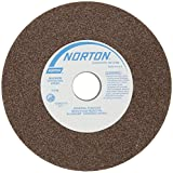 Norton Bench and Pedestal Abrasive Wheel, Type 01 Straight, Aluminum Oxide, 1'' Arbor, 6'' Diameter, 3/4'' Thickness, Medium Grit (Pack of 1)