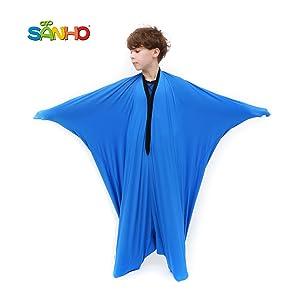 SANHO Yopo Dynamic Movement Sensory Sox, Medium,6-9 Years Old, 47''LX27''W Blue