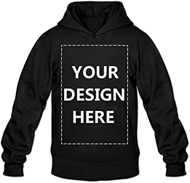 Amazon Com Baranovo Men Custom Pullover Hoodie Design Your Own Hooded Sweatshirt Customized Hoodies Clothing