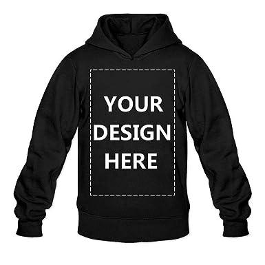 fe03635d2 Man Custom Pullover Hoodie Design Your Own Hooded Sweatshirt Customized  Hoodies Black M