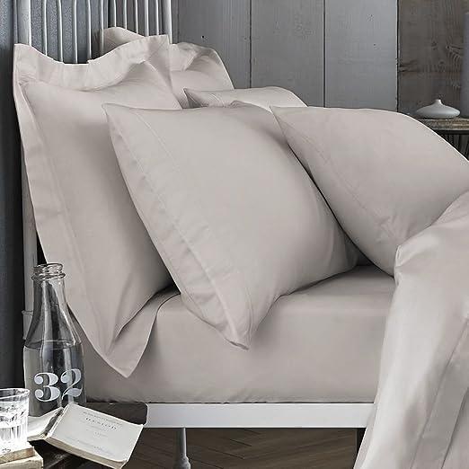 Bianca 200 Hilos sábana, algodón, Neutral, King, algodón, Cotton ...