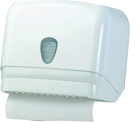 "Dispensador Dispensador Papel Toallas blanco a pared ""Universal para hojas o rollo ("