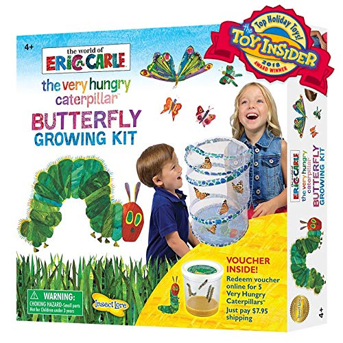 Insect Lore World of Eric Carle, The Very Hungry Caterpillar Butterfly Growing Kit with Voucher