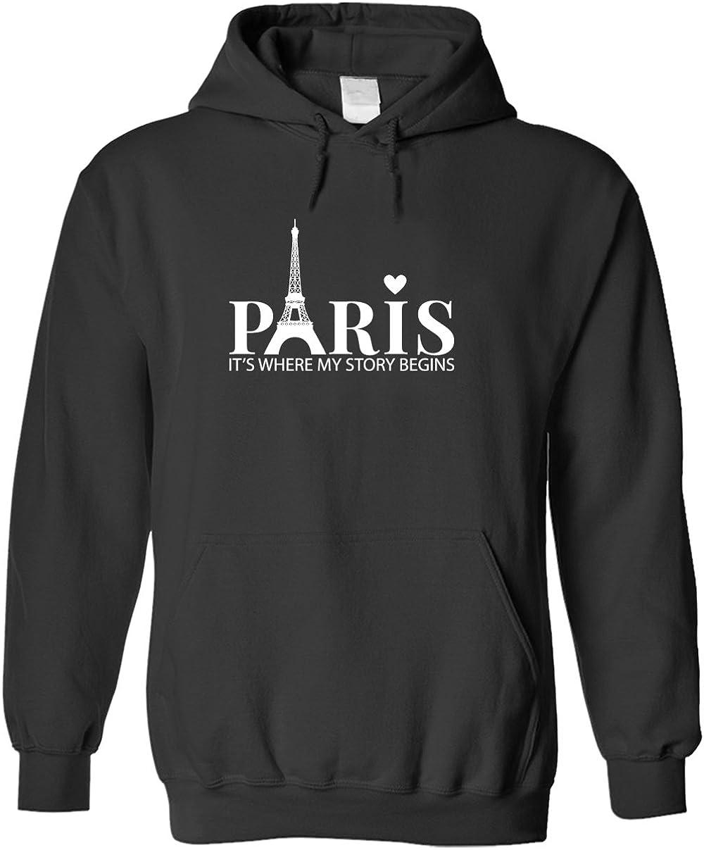 schlecht Bananas Paris, It'S Where meine Story Begins - Unisex Pullover Hoodie (Hooded Sweatshirt)
