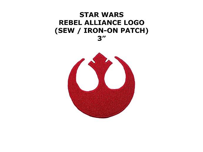 Amazon Star Wars Rebel Alliance Shield Symbol Red 3 Inch Wide